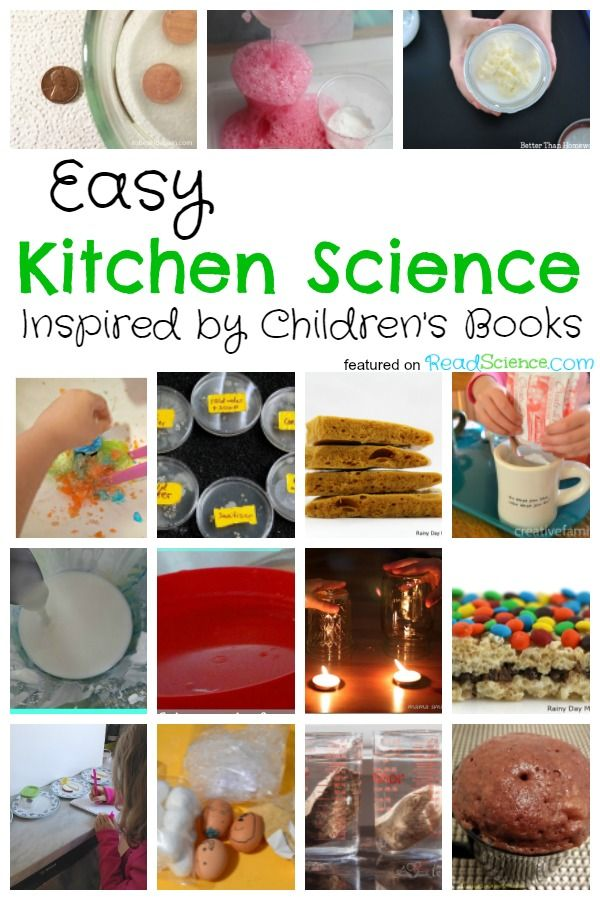 Check out this collection of easy kitchen science activities for kids with a list of picture books to go along with each science idea.