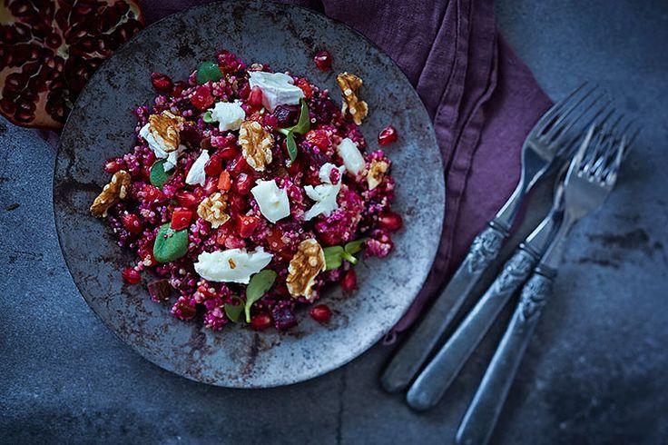Rosolli-kvinoasalaatti