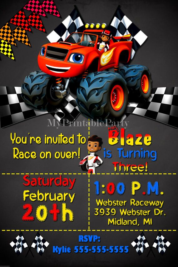 Blaze and the Monster Machines Birthday by MyPrintableParty