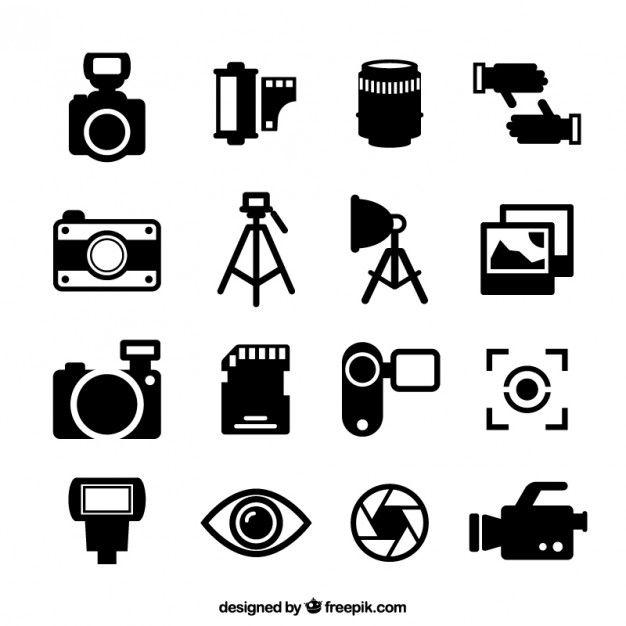 Camera Logo Retro Photography Vectors Tattoo Ideas Adobe Template Pc Pie Cake Free Vector Art