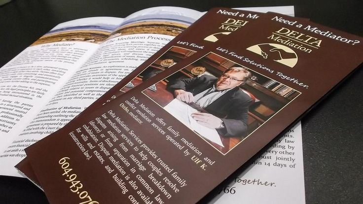 Tri-fold #brochures for Delta Mediation, Delta's family law and ...