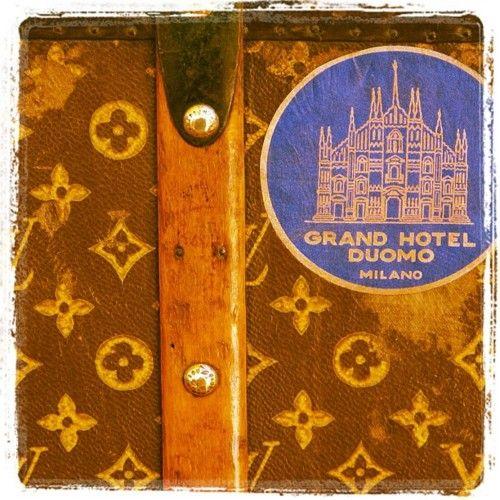 Gran Hotel Duomo Milano, Vintage LV Luggage (Taken with instagram)