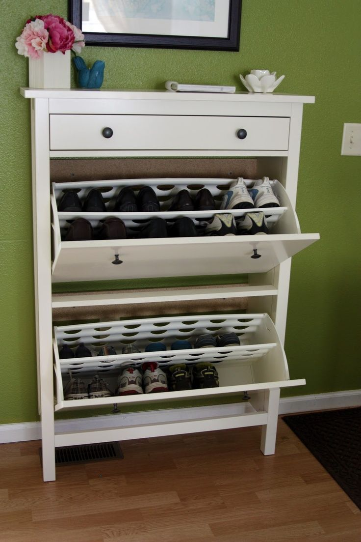 my family totally needs this we always have shoes at the door for from ikea hemnes shoe cabinet