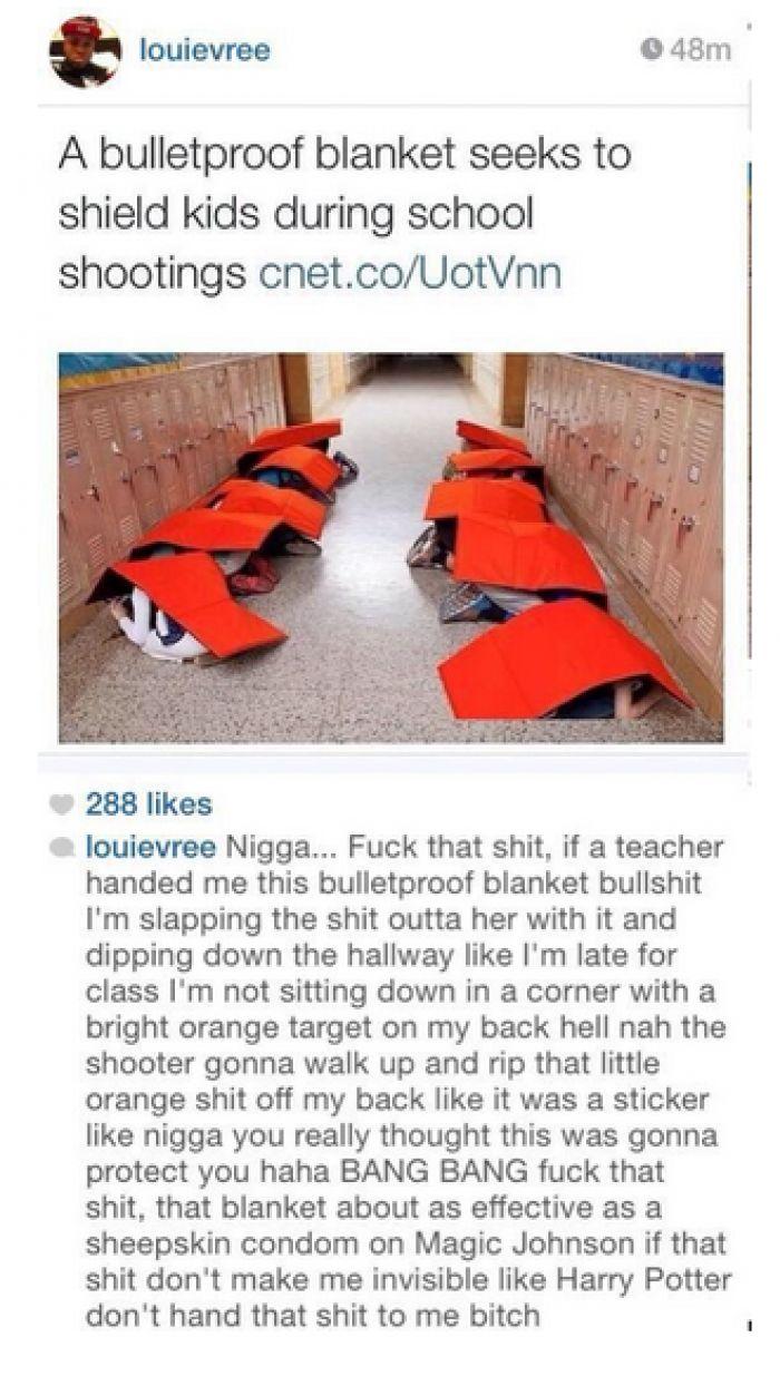 Bulletproof blankets to sheild kids during school shootings