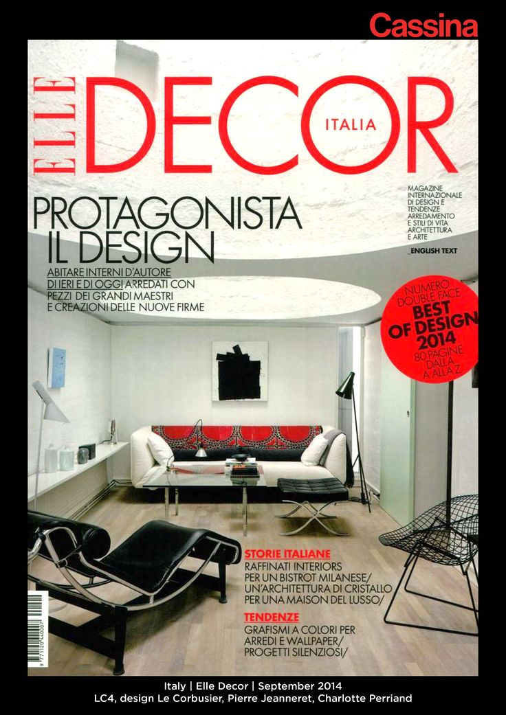 Italy | Elle Decor | September 2014 | LC4, design Le Corbusier, Pierre Jeanneret, Charlotte Perriand | Discover more on: http://cassina.com/it/collezione/poltrone-e-divani/lc4