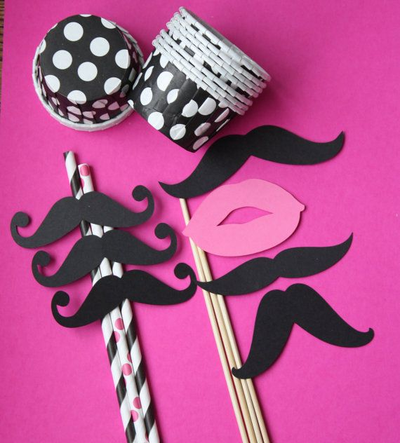 Mustache Moustache Party Stripe Straws Candy by PhotoBoothgirls, $15.50