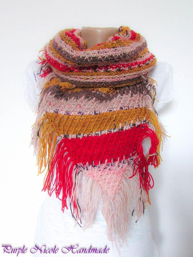 Flower Garden - Handmade Beautiful Crocheted Shawl / Comforter / Neckwarmer by Purple Nicole (Nicole Cea Mov)