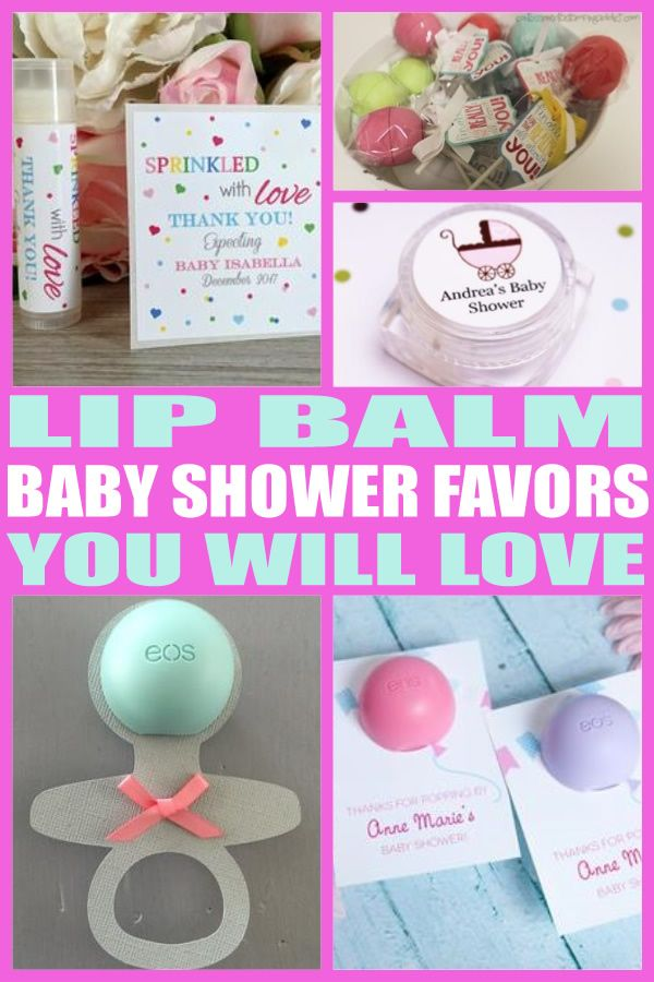 Lip Balm Baby Shower Favors Party