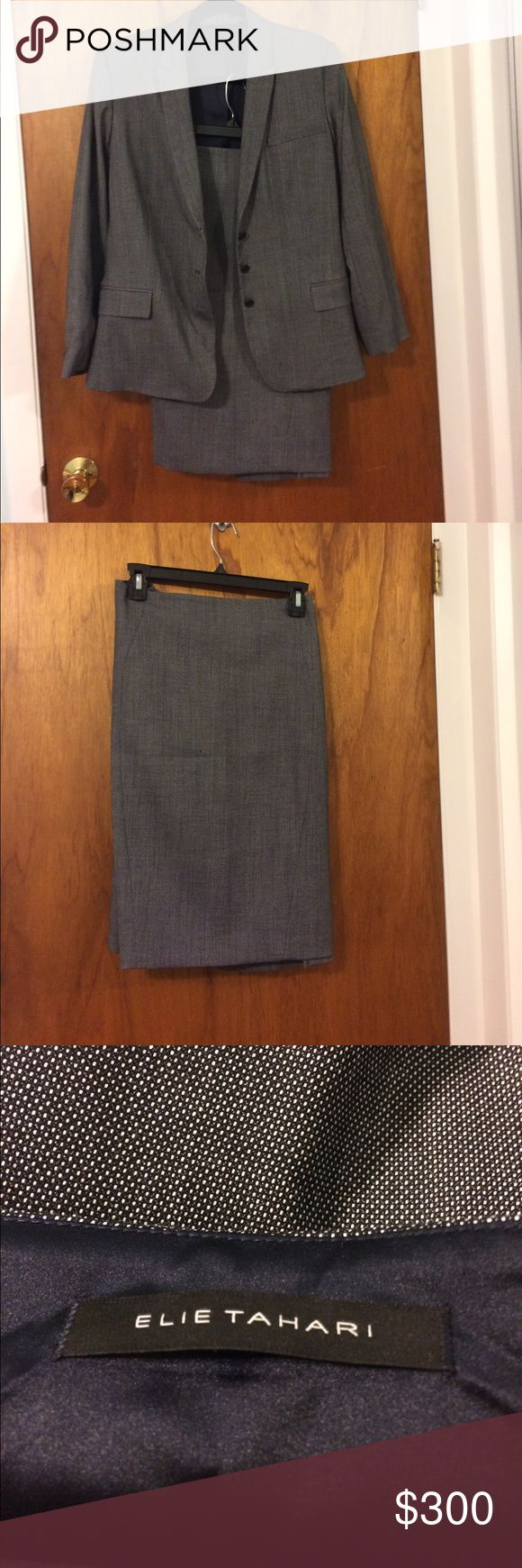 Elie Tahari Suit Elie Tahari grey suit Elie Tahari Other