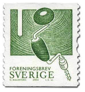 Do you think there is any other stamp in the world with a hand drill on it? Probably not.  And this one is from Sweden, a land that really...