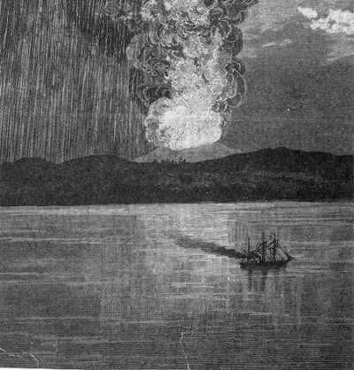 During the days of April 6-11, 1815, one of the worst volcanic eruptions occurred on Sumbawa Island in modern-day Indonesia. The eruption of Mt. Tambora was rated four times stronger than the 1883 eruption of nearby Krakatao. The square miles of dust and pumice to hit the atmosphere caused 'The Year Without A Summer' in the U.S., halfway around the world. Tens of thousands died either directly from the eruption or from disease and starvation in the months that followed.