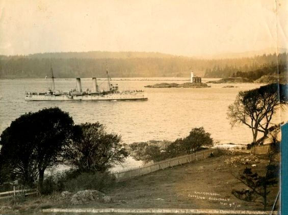 The HMCS Rainbow arrives in Esquimalt. Courtesy of the Canadian War Museum. WWI