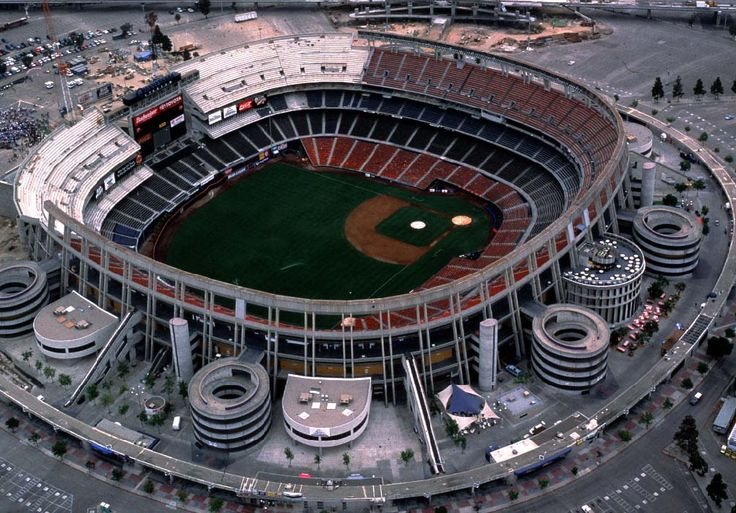 Qualcomm Stadium - San Diego Padres, they don't play here any more. Ike's first ball game ever. I think he was 4.