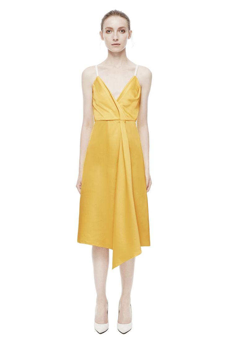 Drape Wrap Midi Dress, Printed