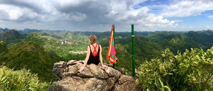 Viewpoint in the national park. Cat ba island, Vietnam