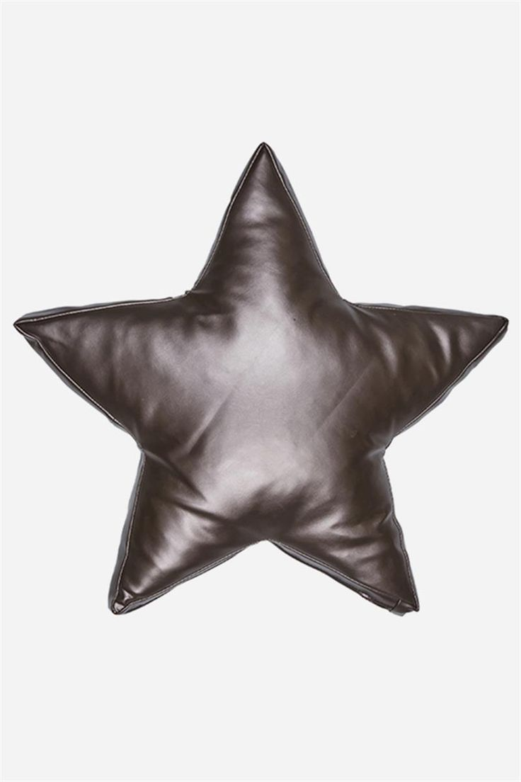 Metallic Star Cushion - Pewter