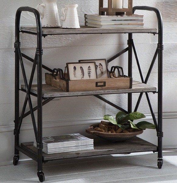 Wood And Metal Jackson Kitchen Cart: Best 25+ Rolling Shelves Ideas On Pinterest