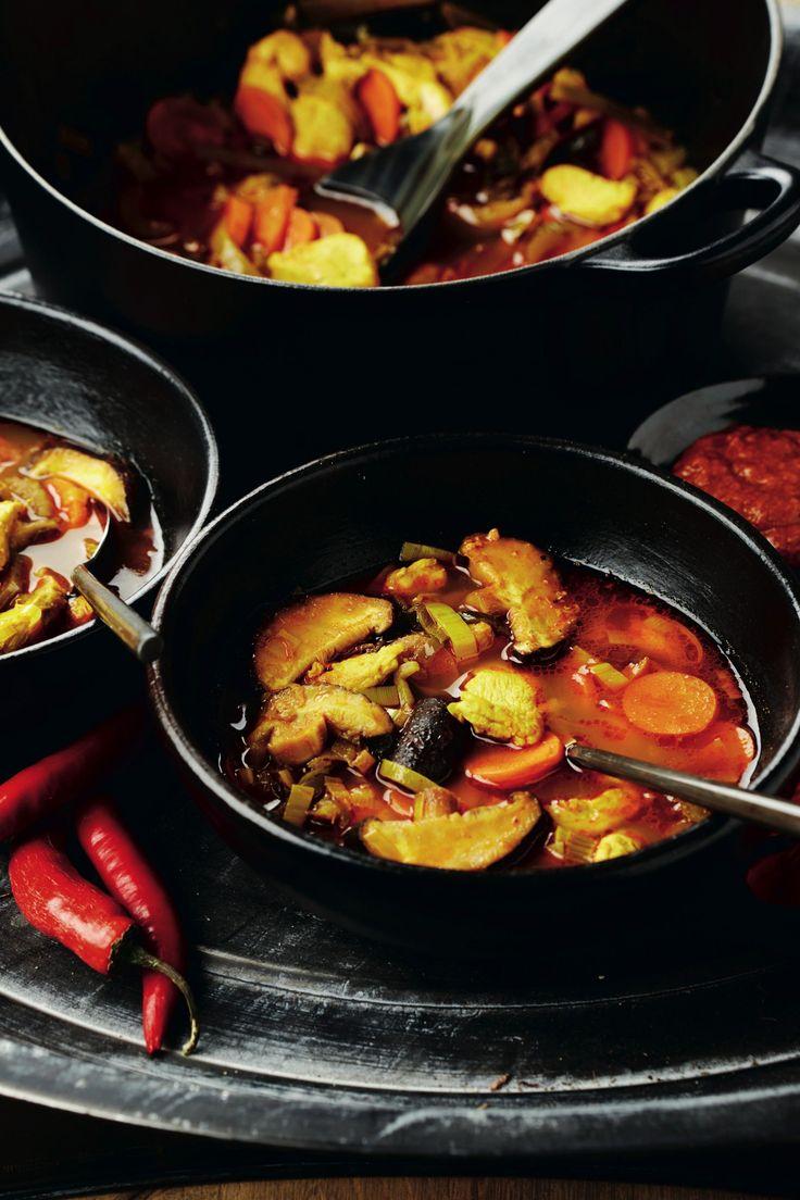 Pikante currysoep met kip en groenten - Pascale Naessens
