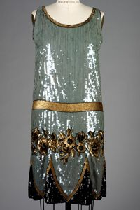 A and L Tirocchi, silk and sequinned evening dress, 1925