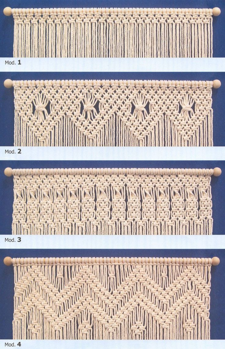 144 best macrame images on pinterest for Cortinas de ganchillo