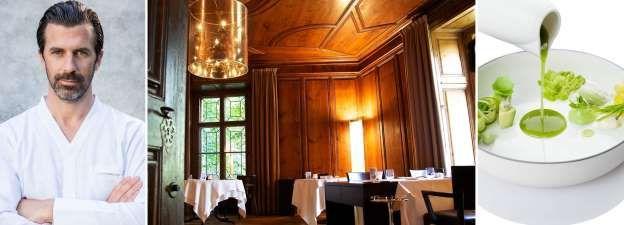 48. Schloss Schauenstein in Fürstenau, Zwitserland Chefkok: Andreas Caminada Soort keuken: Modern Frans Signatuurgerecht: Ganzenlever met verse geitenkaas en maïs