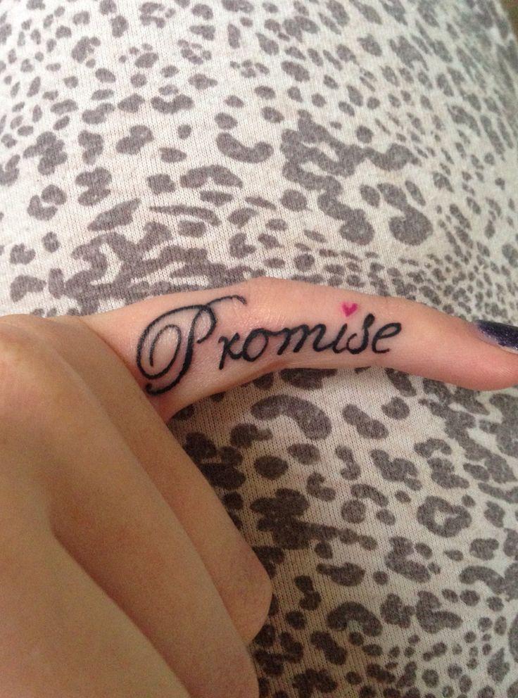 Best 25+ Promise tattoo ideas on Pinterest | Pinky promise ...