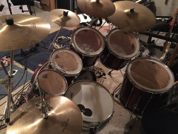 My First Drum Set A Wine Red Pearl Export Expanded To 7 Pieces