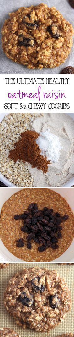Clean-Eating Oatmeal Raisin Cookies -- these skinny cookies don't taste healthy at all! You'll never need another oatmeal cookie recipe again!
