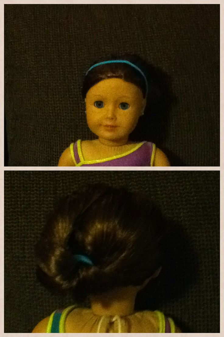 A easy cute ag doll hairstyle and use a ponytailed holder for a cute headband