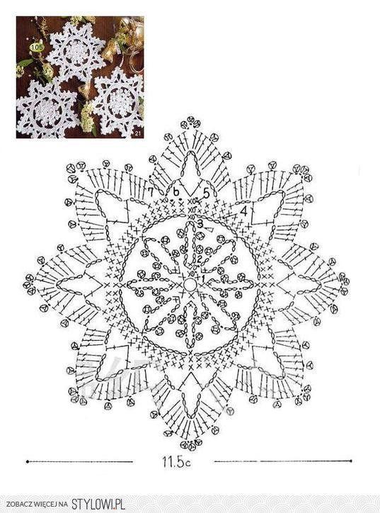 crochet snowflake: