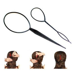 New 10PCS Topsy Tail Hair Braid Ponytail Maker Styling Tool by Crystalcity-6662. $6.99. Material: Plastic. 2 Different Sizes Included, Thick And Thin. Size: 5PCS: 191cm ; 5PCS: 141cm. Color: Black. This little product brings you a new hair style in seconds! Simple and elegant hair style, not only embellishes the shape of head and face, but also achieves graceful and sweet temperament.  Features: 1. 100% brand new and high quality 2. Simple and elegant hair style, not...