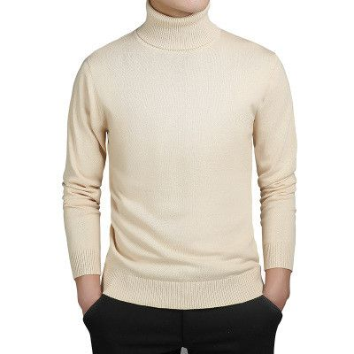 Winter new Men turtleneck sweater Business casual pure color pullovers Men's self-cultivation and warmth Knitted primer shirt