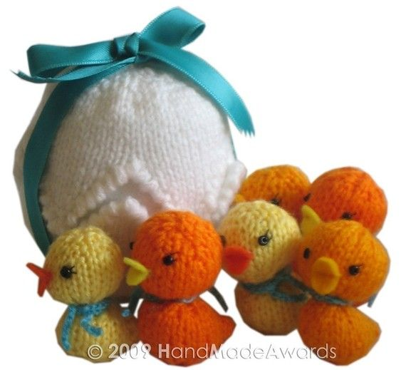 Easter EGG with Six Little Ducks PDF Email Knit by HandMadeAwards, $3.95