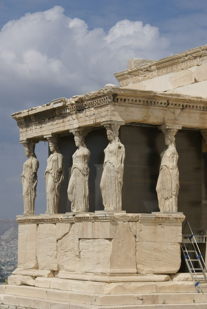 Erechtheion Is A Greek Temple. To The South Of The Temple Lies The Porch Of