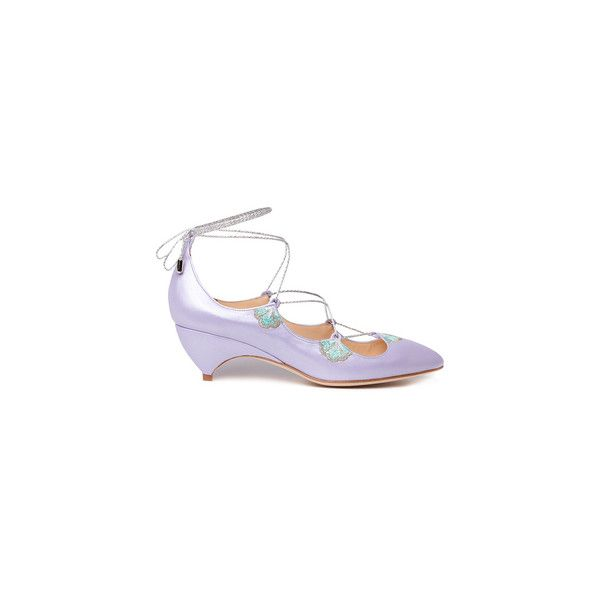 Liudmila ($730) ❤ liked on Polyvore featuring shoes, metallic shoes, indian shoes, flower print shoes, bohemian style shoes and floral lace up shoes