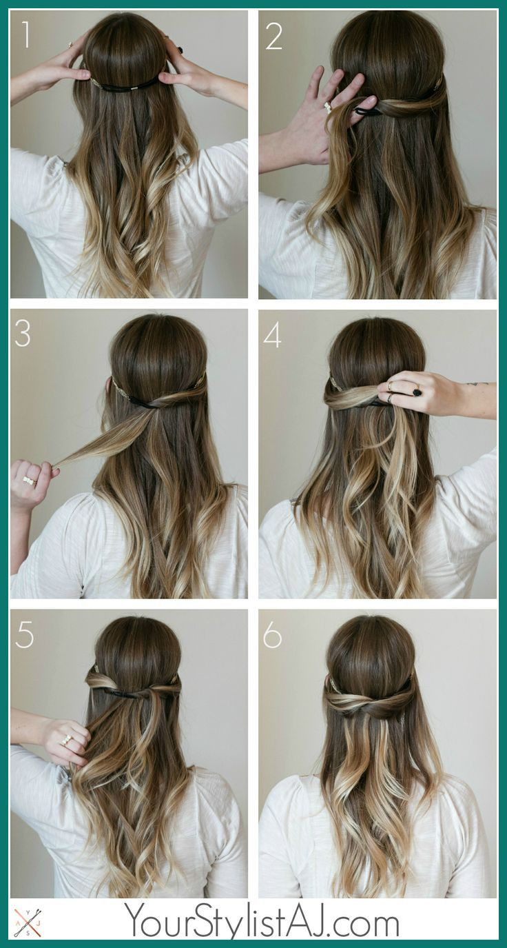 Simple Hairstyle For Medium Hair New Cute Simple Hairstyles For Medium Length Hair Medium In 2020 Long Hair Styles Long Hair Updo Hair Styles