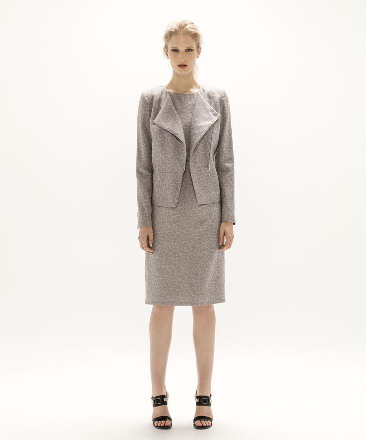 Asymmetric Jacket - Grey and Anna Dress - Grey