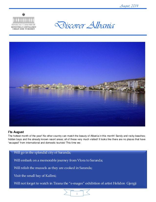 Discover albania tourism august 2014  by Hoteleri Turizem Albania & Albanian Tourism Low-cost via slideshare