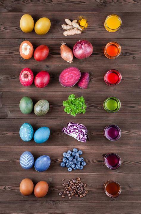Ostereier natürlich färben: Anleitungen & Rezepte