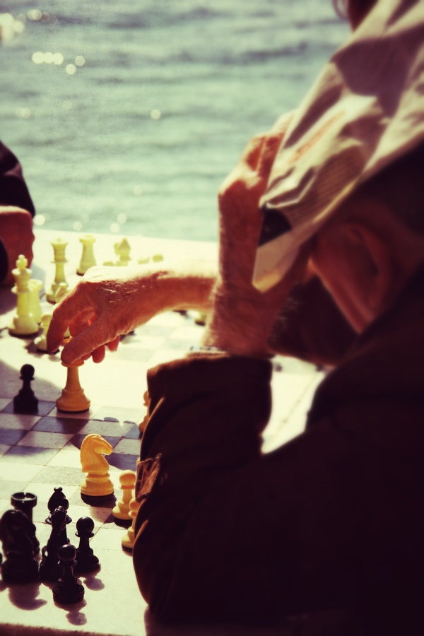 Chess game.. Palaio Faliro, Athens..