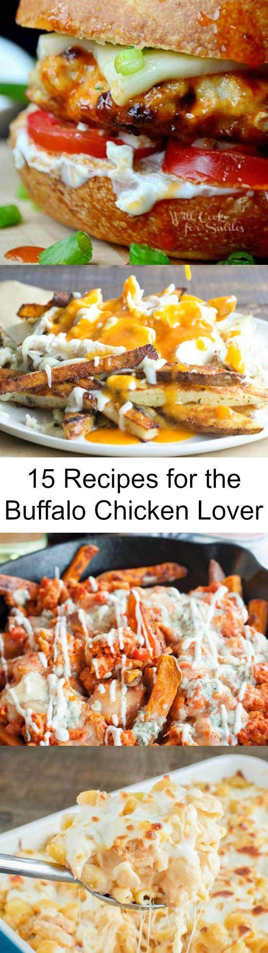 If you like buffalo chicken you will LOVE these easy dinners, appetizers, and snacks using buffalo chicken!