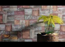 ECS17-19033-88 Ταπετσαρία τοίχου ρολό ξύλο