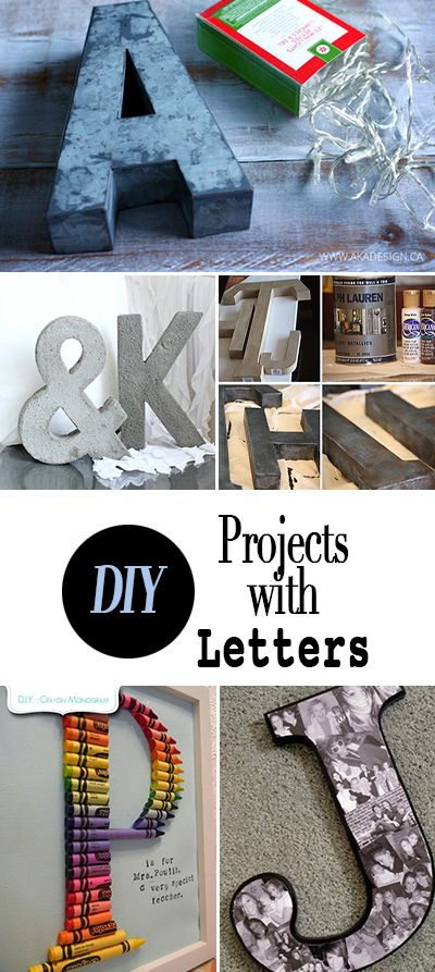 DIY Projects with Letters • Tutorials for using letters and words to decorate your home... Step by step projects!