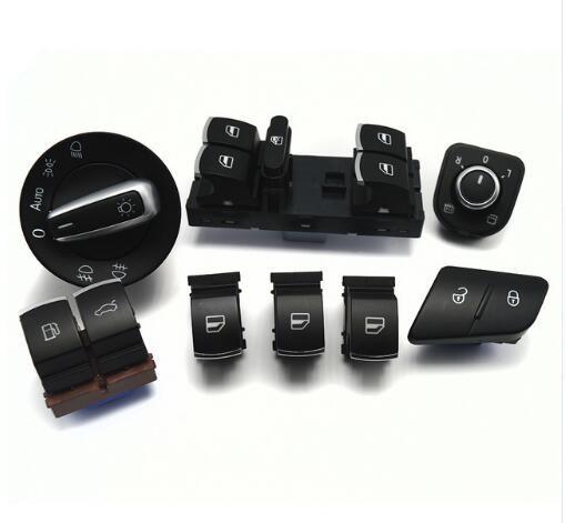 Window headlight mirror lock / unlock tailgate & fuel flap switch for VW Passat b6 3c 2006-2011 35D959903 3C0962125B 5ND959565A