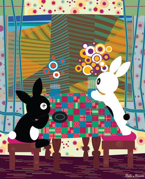 """Et voilà une nouvelle illustration de la série """"détournements"""" ! Reconnaissez vous cette œuvre ? Voilà ma version de l' """"Ile des Désirs Perdus"""" (D'après Hundertwasser).Bientôt disponible au format original de 59x48 cm, imprimé sur toile, signé et numéroté en 3 exemplaires.Youpi !"""