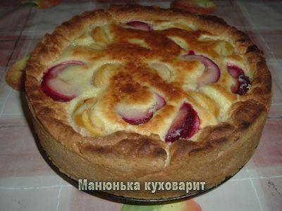 Заливной пирог с абрикосами и сливами (мамин) : Манюнька куховарит
