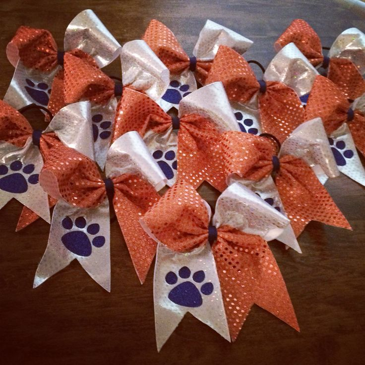 Orange and Blue Cheer Bows!