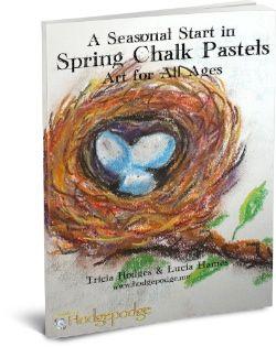 A Seasonal Start In Spring Chalk Pastels - Harmony Fine Arts