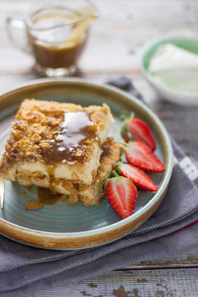 My Kitchen Stories- Cook, Travel, Eat Totally addictive Cornflake crusted french Toast with caramel sauce