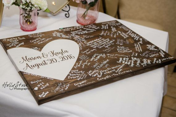 Alternative wedding guest book wood guest book by EastInADay